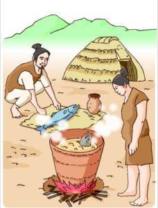 реконструкция керамики и быта 15 000 лет назад из Асахи Симбун